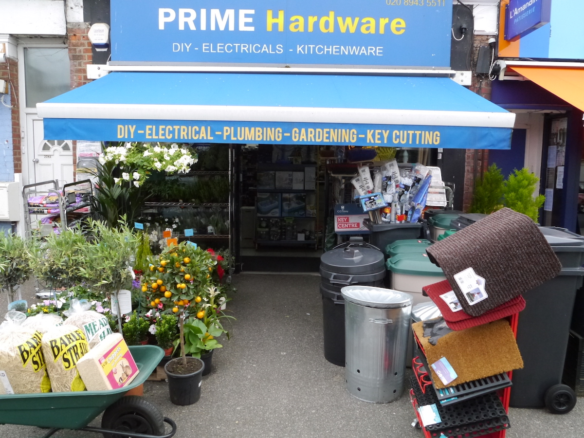 Picture of the front entrance of Prime hardware teddington